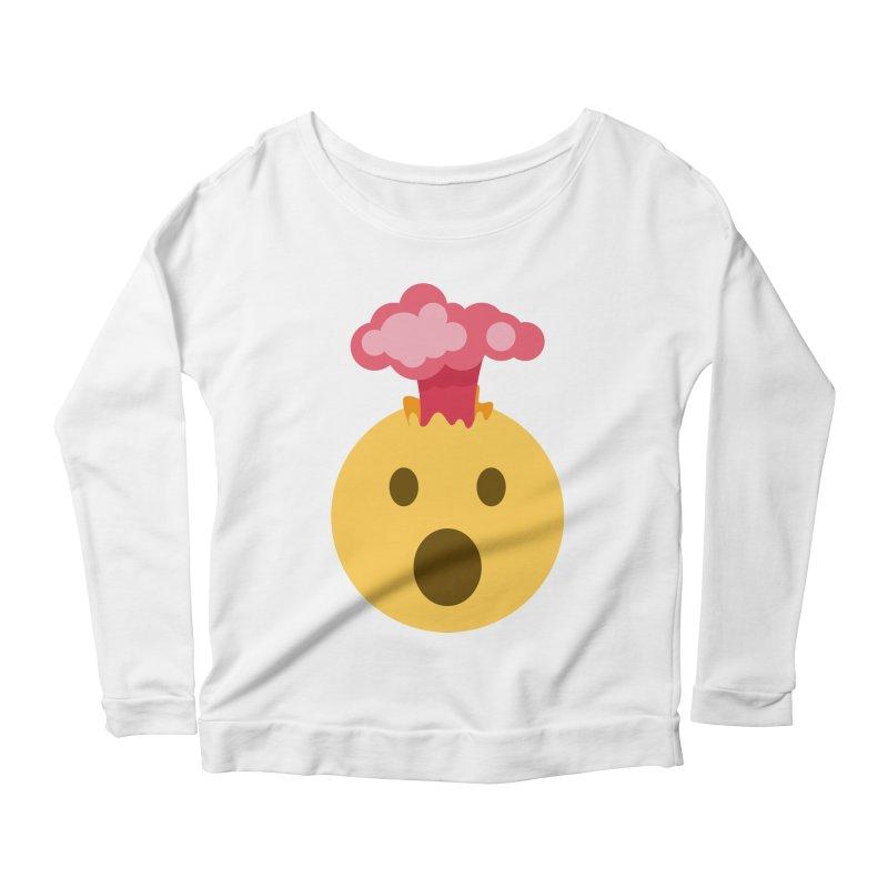 Mind Blown Emoji Women's Scoop Neck Longsleeve T-Shirt by XpressYourPower Shop
