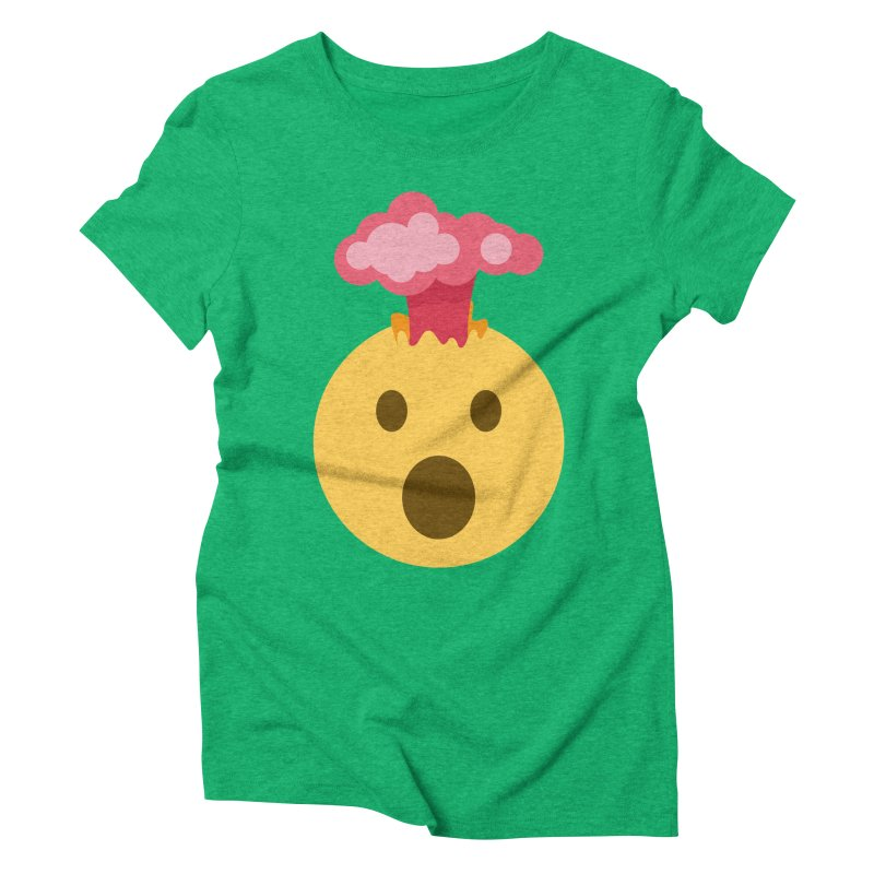 Mind Blown Emoji Women's Triblend T-Shirt by XpressYourPower Shop