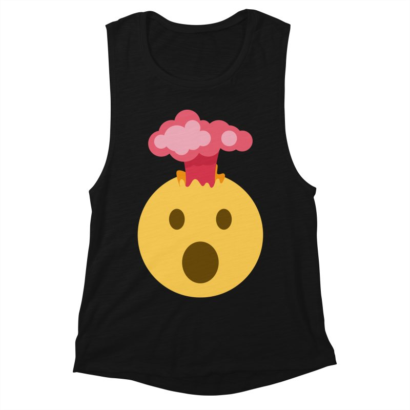 Mind Blown Emoji Women's Muscle Tank by XpressYourPower Shop