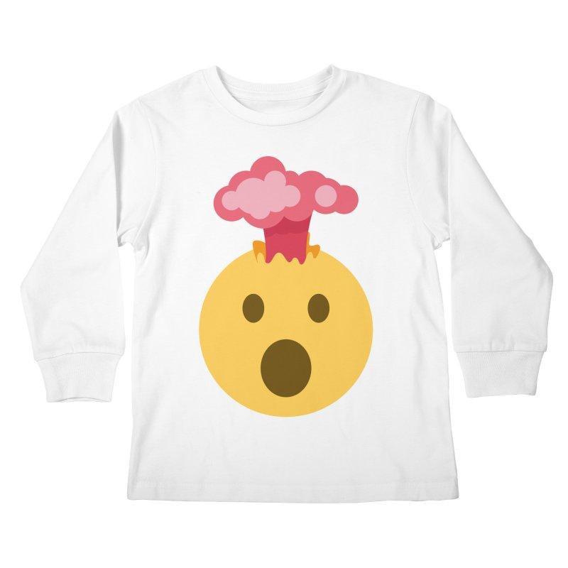 Mind Blown Emoji Kids Longsleeve T-Shirt by XpressYourPower Shop