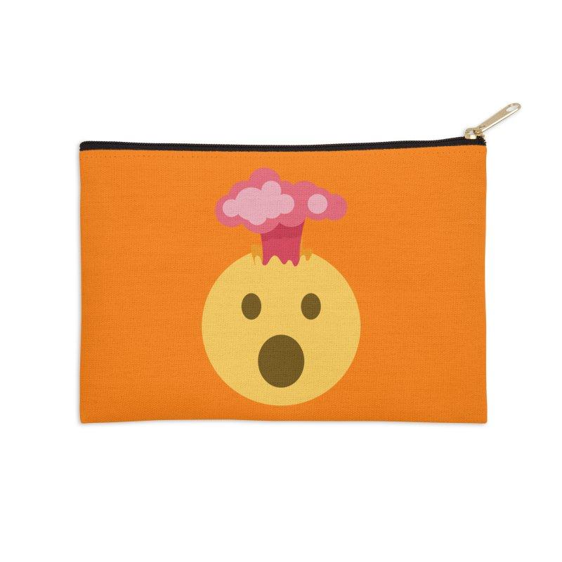 Mind Blown Emoji Accessories Zip Pouch by XpressYourPower Shop
