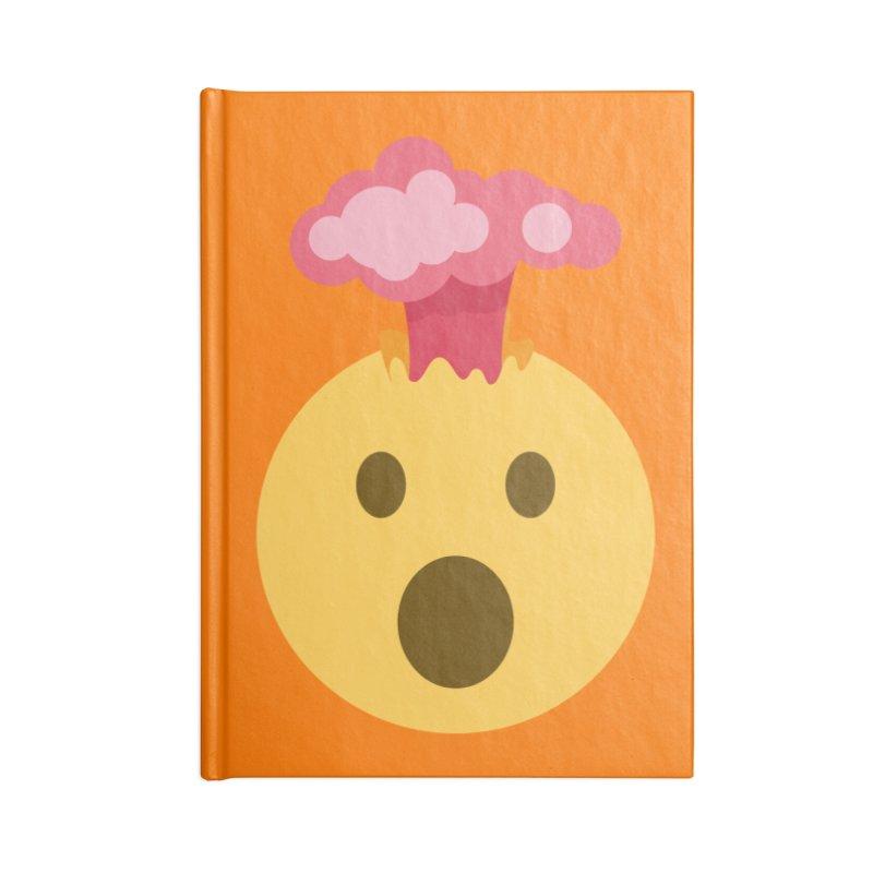 Mind Blown Emoji Accessories Blank Journal Notebook by XpressYourPower Shop