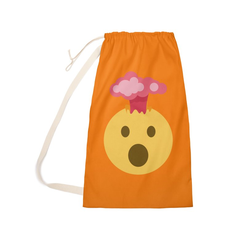 Mind Blown Emoji Accessories Laundry Bag Bag by XpressYourPower Shop