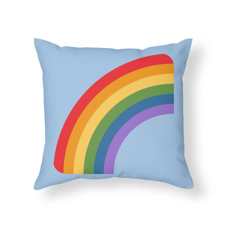 Rainbow Emoji Home Throw Pillow by XpressYourPower Shop