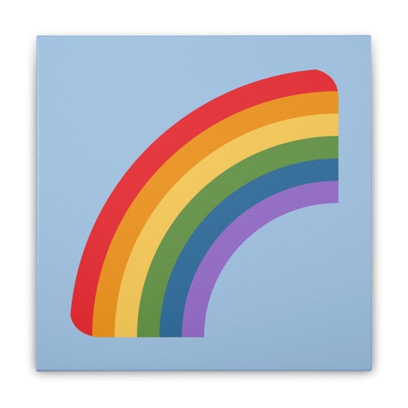 Rainbow Emoji Home Stretched Canvas by XpressYourPower Shop