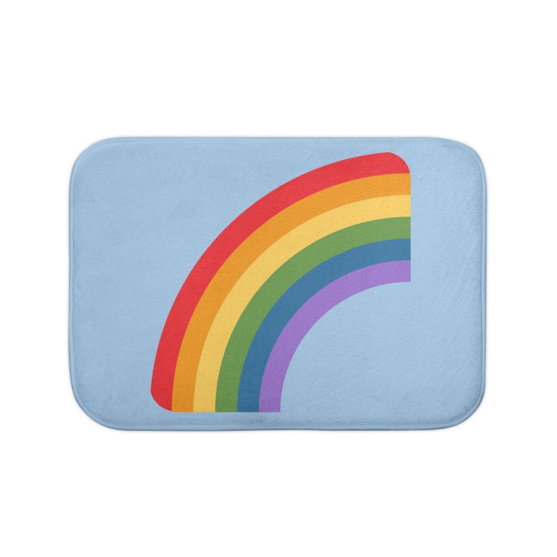 Rainbow Emoji Home Bath Mat by XpressYourPower Shop