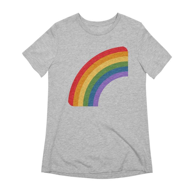 Rainbow Emoji Women's Extra Soft T-Shirt by XpressYourPower Shop