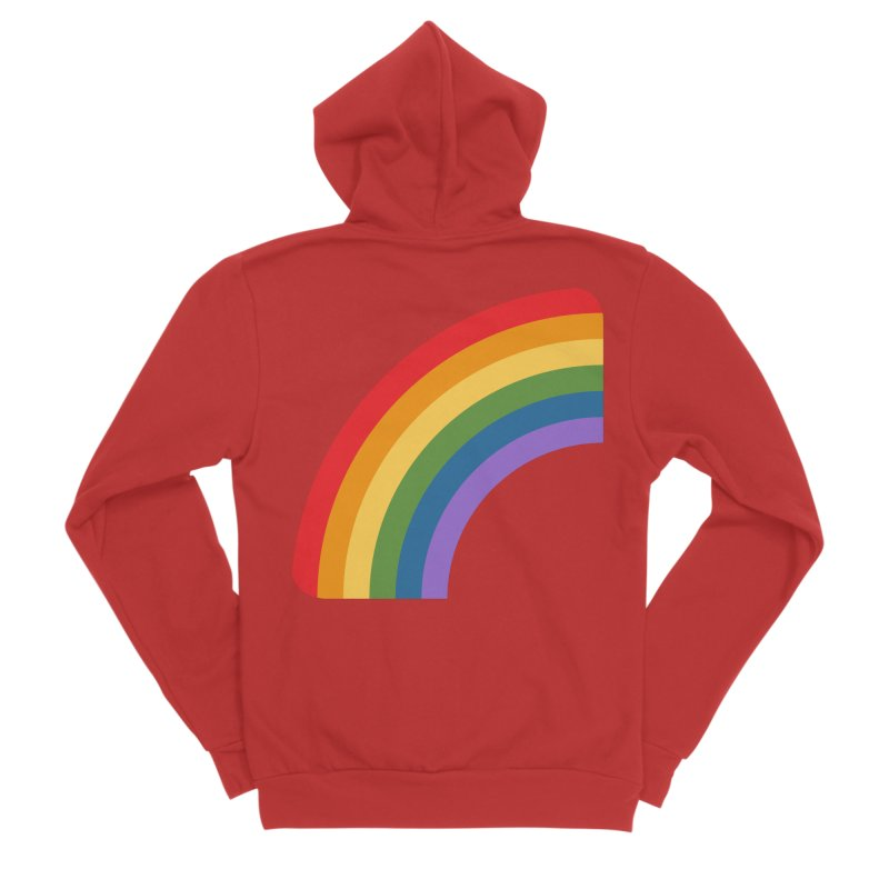 Rainbow Emoji Women's Sponge Fleece Zip-Up Hoody by XpressYourPower Shop