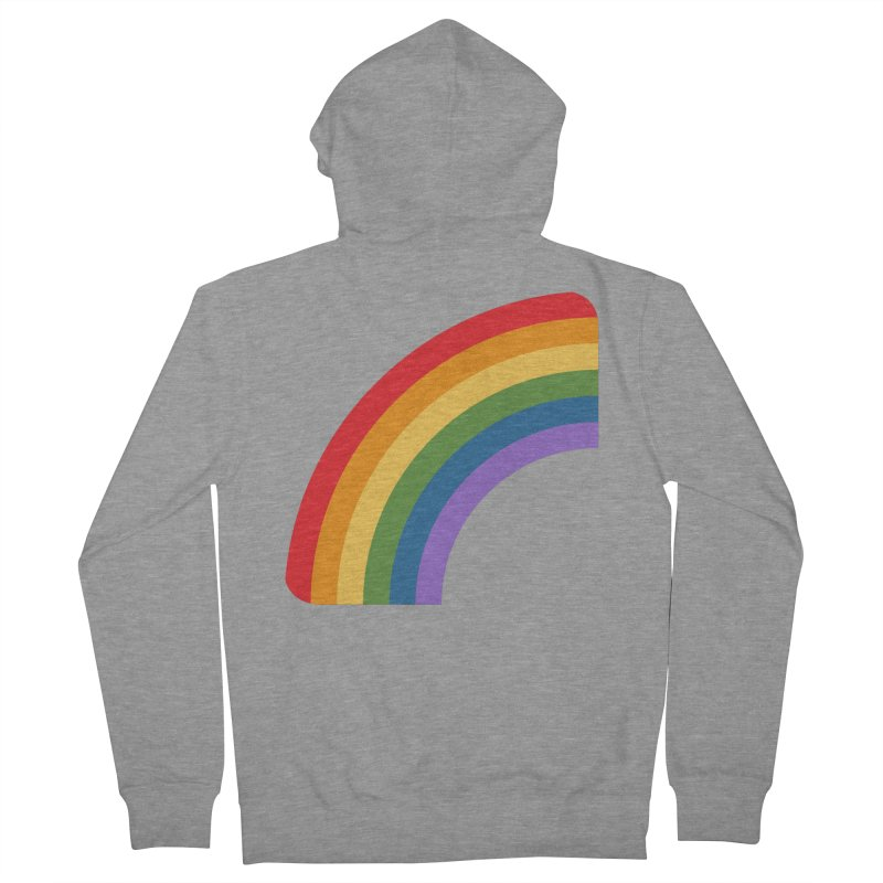 Rainbow Emoji Men's French Terry Zip-Up Hoody by XpressYourPower Shop