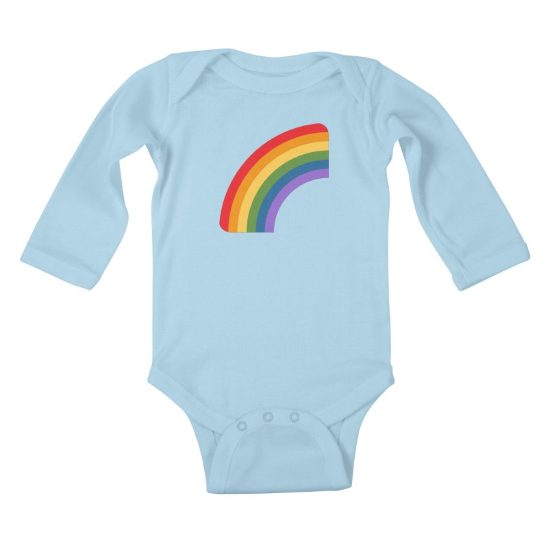 Rainbow Emoji Kids Baby Longsleeve Bodysuit by XpressYourPower Shop