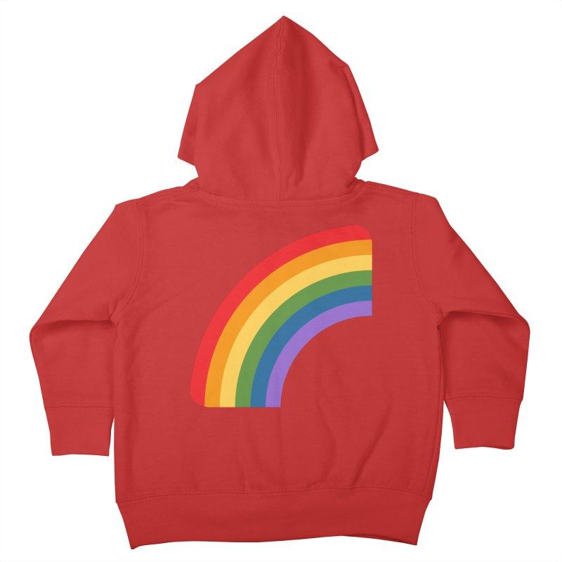 Rainbow Emoji Kids Toddler Zip-Up Hoody by XpressYourPower Shop
