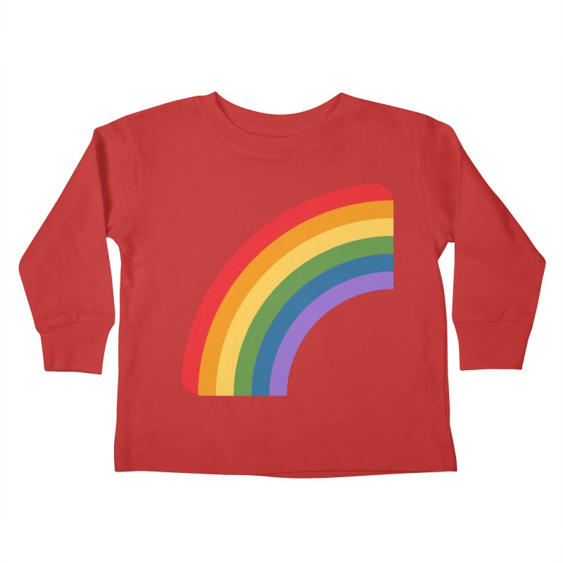 Rainbow Emoji Kids Toddler Longsleeve T-Shirt by XpressYourPower Shop