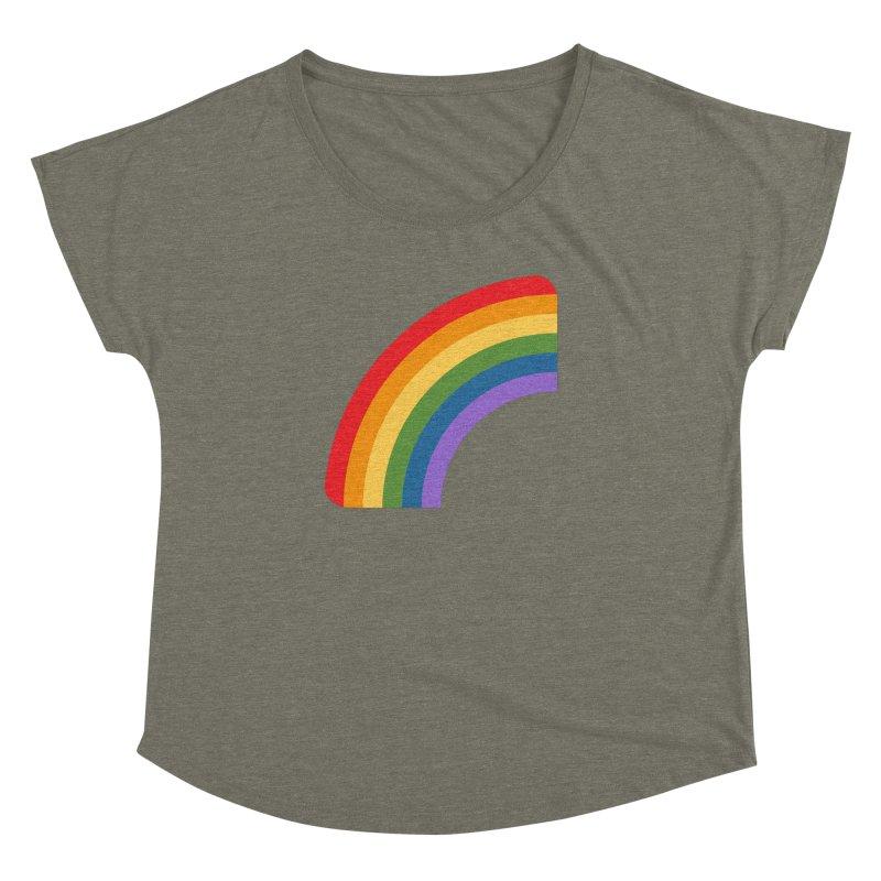 Rainbow Emoji Women's Dolman Scoop Neck by XpressYourPower Shop