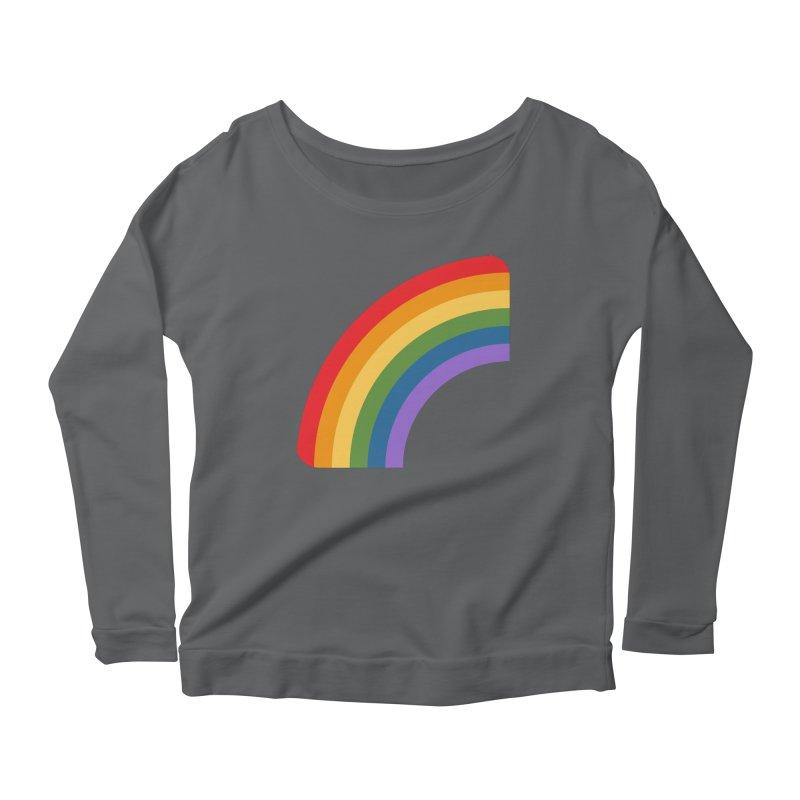 Rainbow Emoji Women's Scoop Neck Longsleeve T-Shirt by XpressYourPower Shop