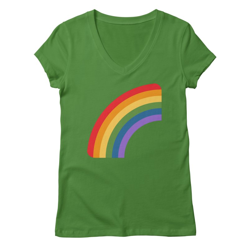 Rainbow Emoji Women's Regular V-Neck by XpressYourPower Shop