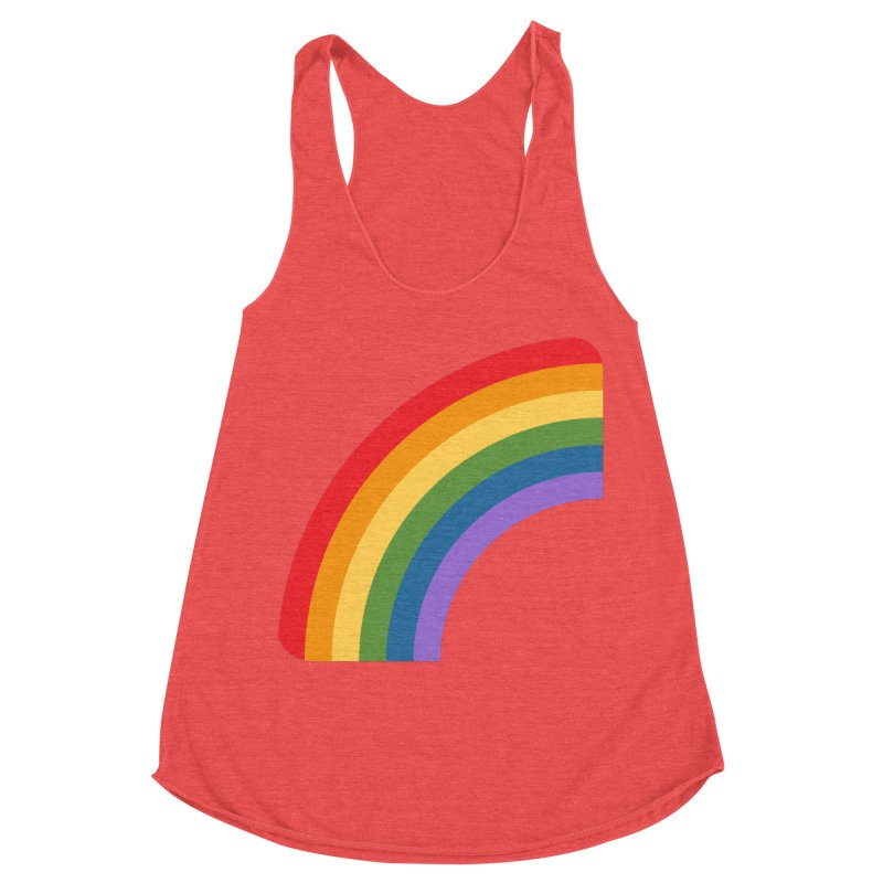 Rainbow Emoji Women's Racerback Triblend Tank by XpressYourPower Shop