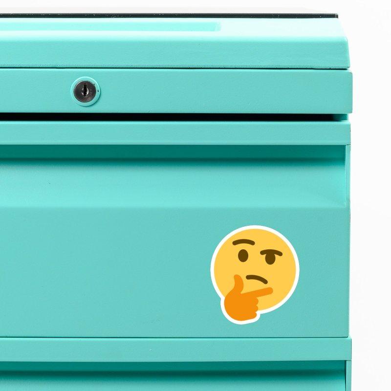 Thinking Emoji Accessories Magnet by XpressYourPower Shop
