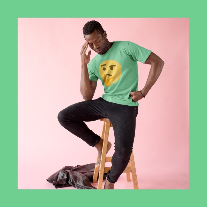 Thinking Emoji Men's T-Shirt by XpressYourPower Shop
