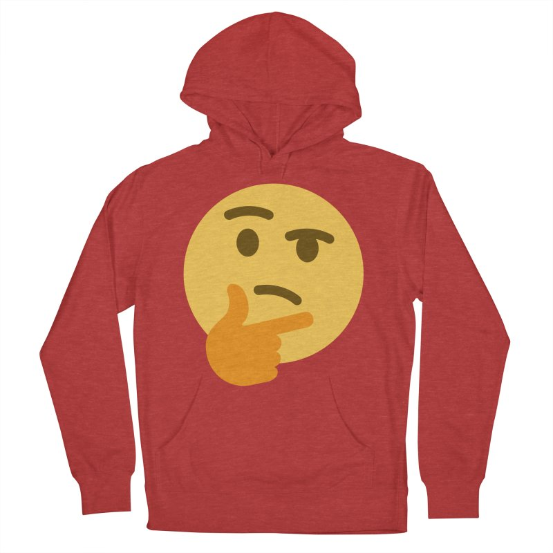 Thinking Emoji Women's French Terry Pullover Hoody by XpressYourPower Shop