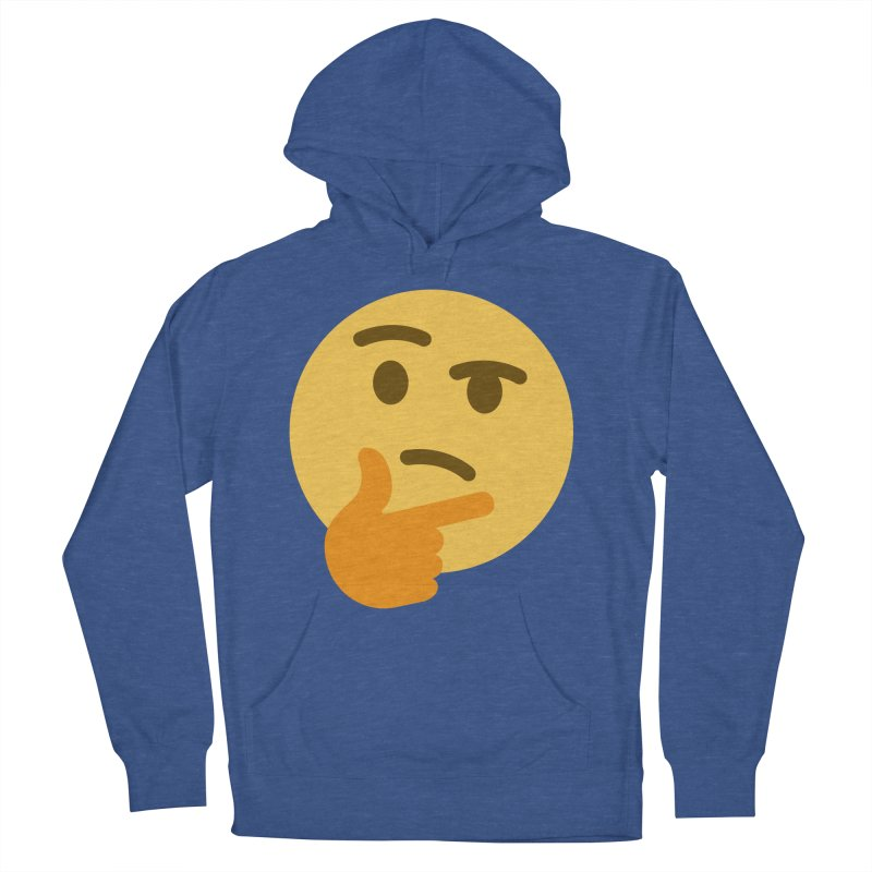 Thinking Emoji Men's French Terry Pullover Hoody by XpressYourPower Shop