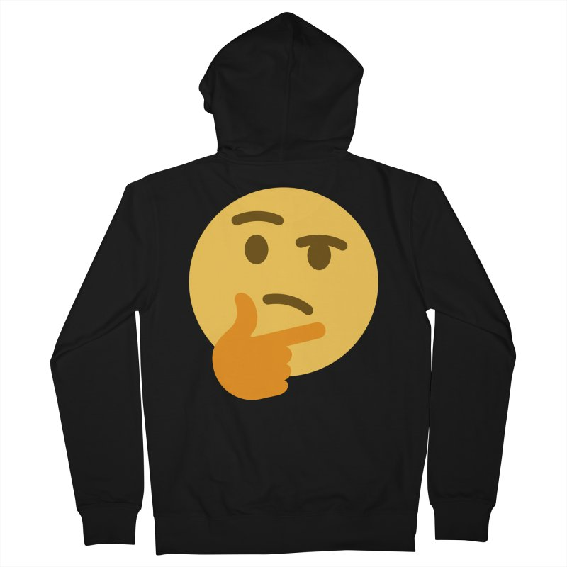 Thinking Emoji Men's French Terry Zip-Up Hoody by XpressYourPower Shop
