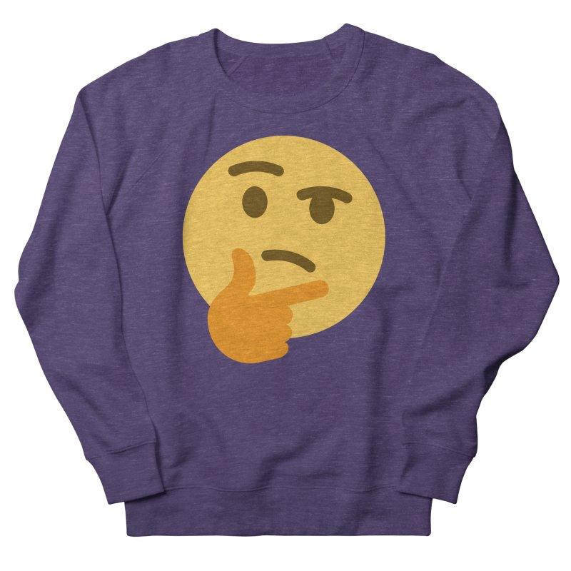 Thinking Emoji Women's French Terry Sweatshirt by XpressYourPower Shop