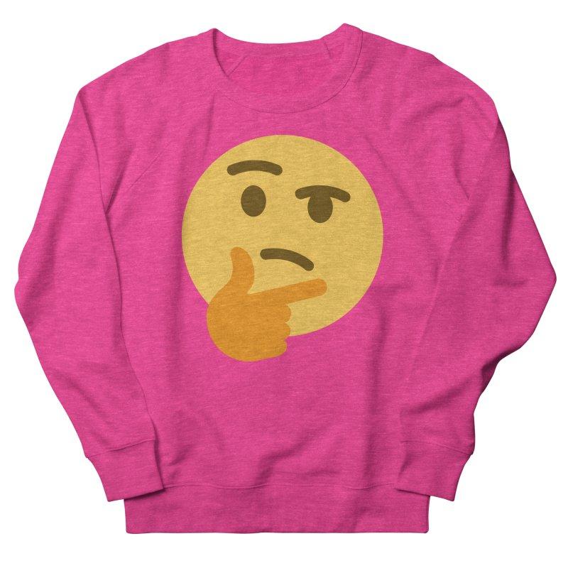Thinking Emoji Men's French Terry Sweatshirt by XpressYourPower Shop
