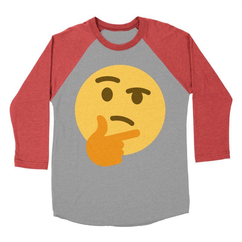 Thinking Emoji Women's Baseball Triblend Longsleeve T-Shirt by XpressYourPower Shop