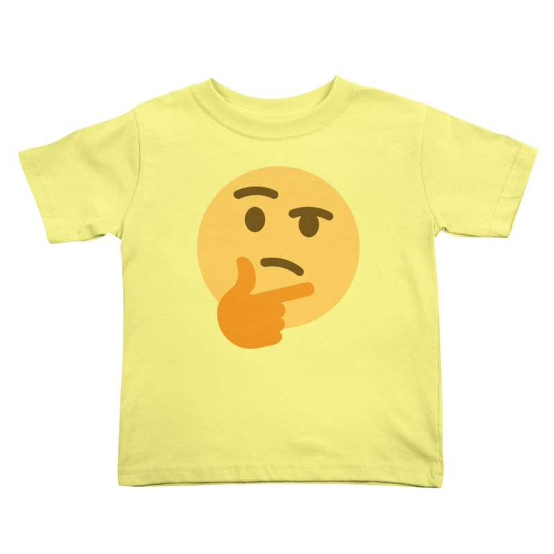 Thinking Emoji Kids Toddler T-Shirt by XpressYourPower Shop