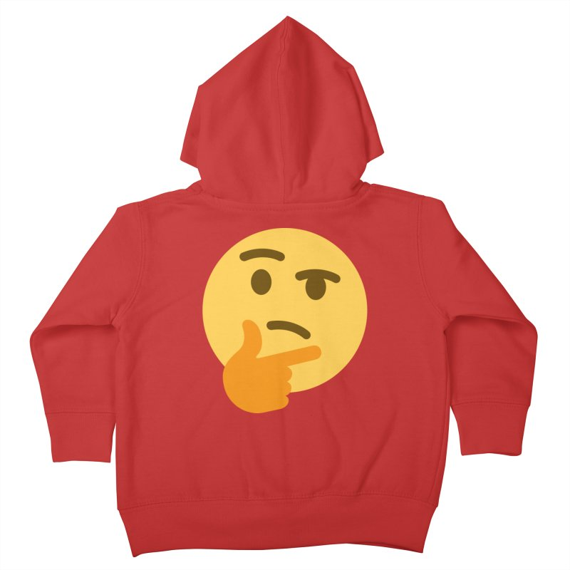 Thinking Emoji Kids Toddler Zip-Up Hoody by XpressYourPower Shop