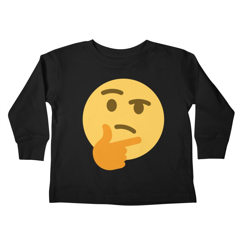 Thinking Emoji Kids Toddler Longsleeve T-Shirt by XpressYourPower Shop