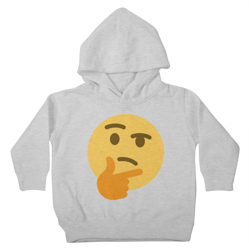 Thinking Emoji Kids Toddler Pullover Hoody by XpressYourPower Shop