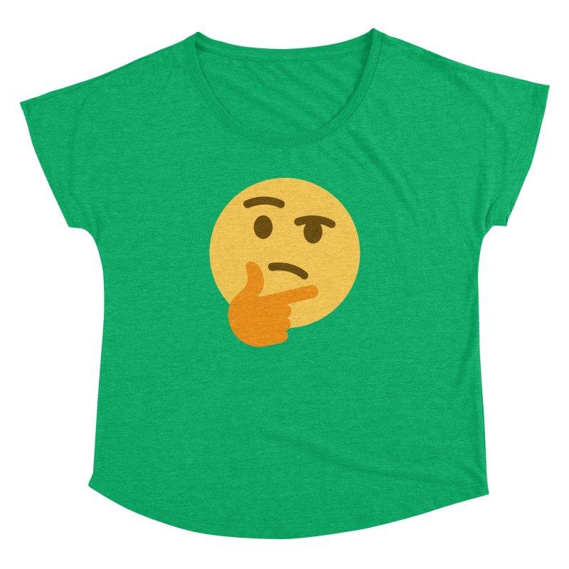 Thinking Emoji Women's Dolman Scoop Neck by XpressYourPower Shop