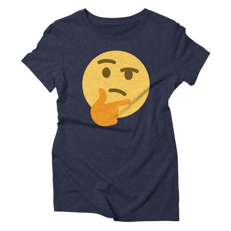 Thinking Emoji Women's Triblend T-Shirt by XpressYourPower Shop