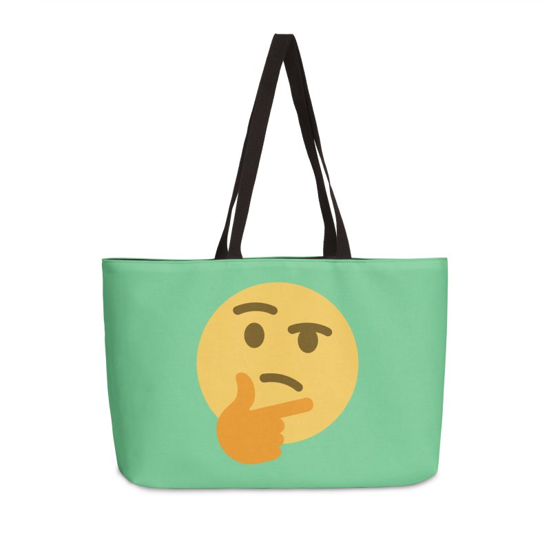 Thinking Emoji Accessories Weekender Bag Bag by XpressYourPower Shop
