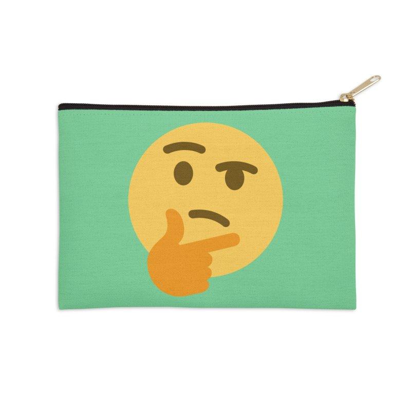 Thinking Emoji Accessories Zip Pouch by XpressYourPower Shop