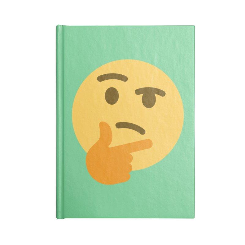 Thinking Emoji Accessories Blank Journal Notebook by XpressYourPower Shop