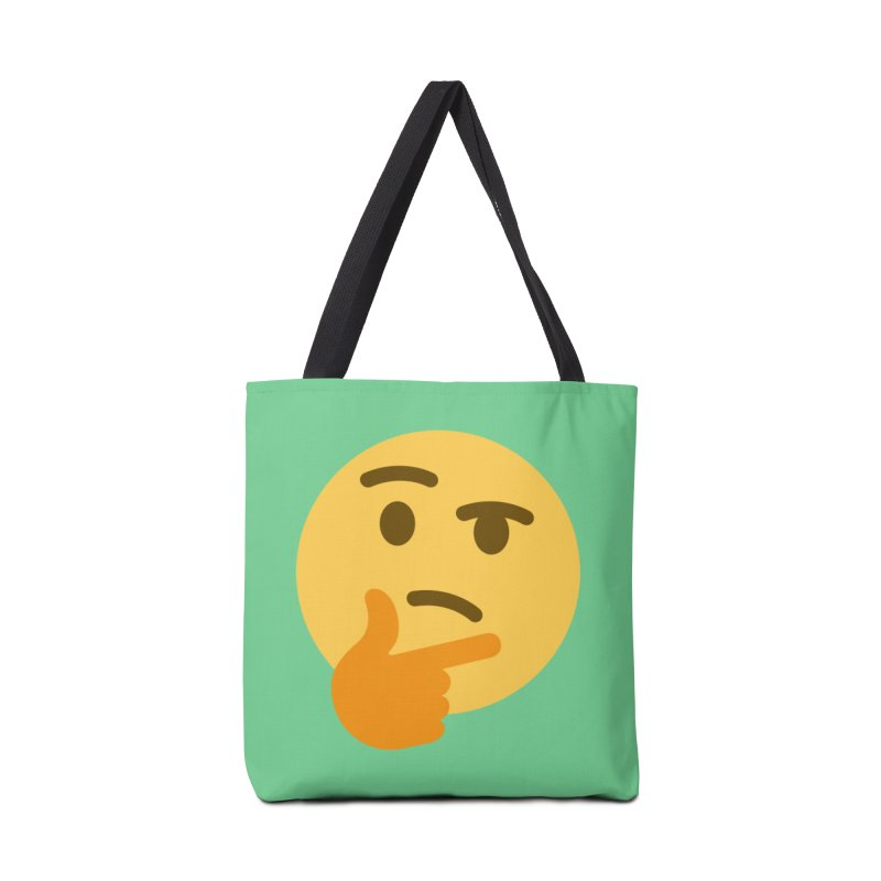 Thinking Emoji Accessories Tote Bag Bag by XpressYourPower Shop