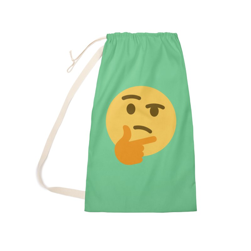Thinking Emoji Accessories Laundry Bag Bag by XpressYourPower Shop