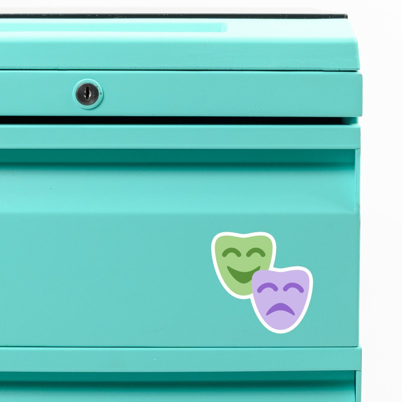 Drama Emoji Accessories Magnet by XpressYourPower Shop