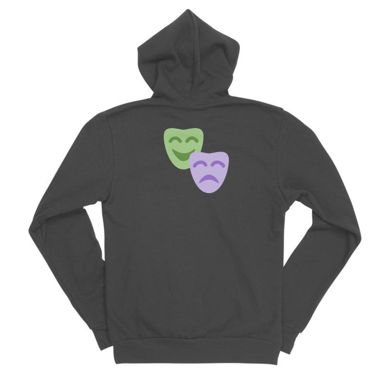 Drama Emoji Men's Sponge Fleece Zip-Up Hoody by XpressYourPower Shop
