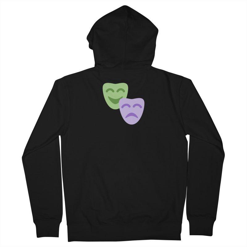 Drama Emoji Men's French Terry Zip-Up Hoody by XpressYourPower Shop