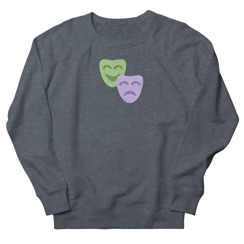 Drama Emoji Men's French Terry Sweatshirt by XpressYourPower Shop