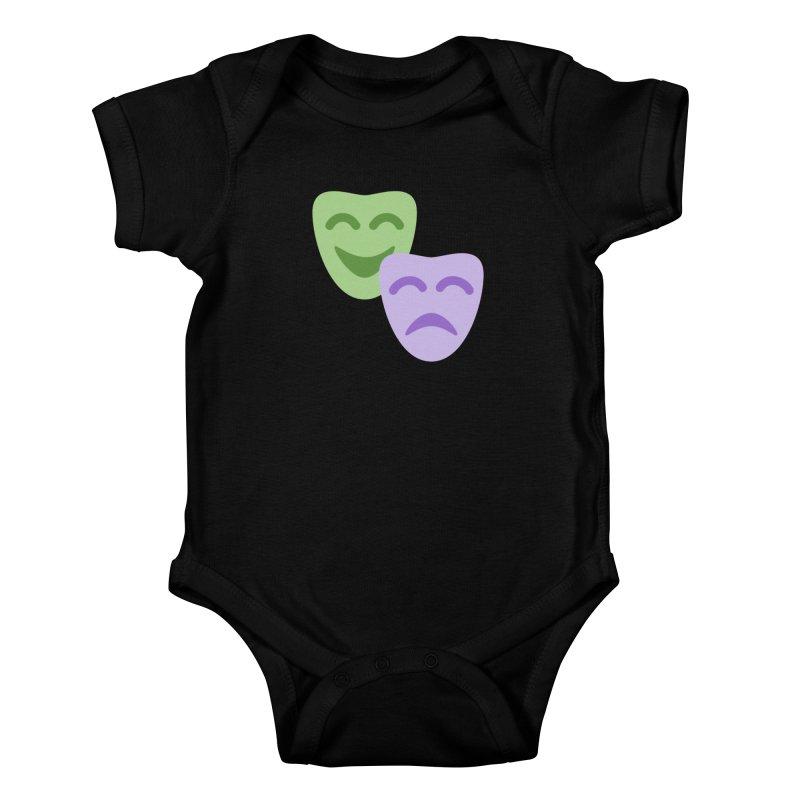 Drama Emoji Kids Baby Bodysuit by XpressYourPower Shop