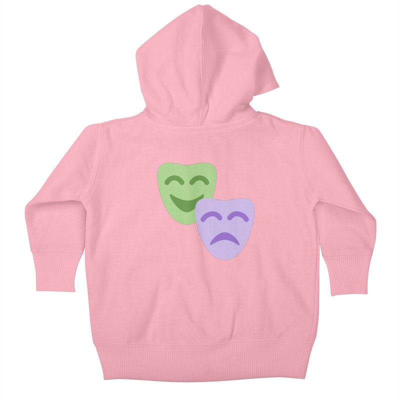 Drama Emoji Kids Baby Zip-Up Hoody by XpressYourPower Shop