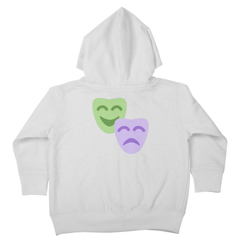 Drama Emoji Kids Toddler Zip-Up Hoody by XpressYourPower Shop