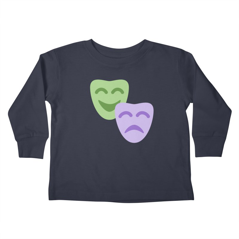 Drama Emoji Kids Toddler Longsleeve T-Shirt by XpressYourPower Shop