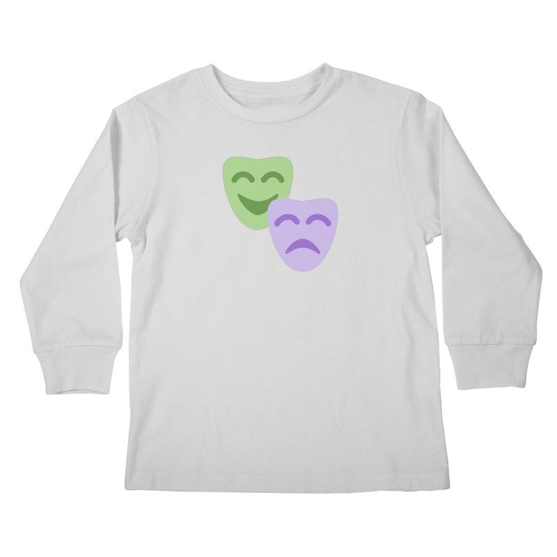Drama Emoji Kids Longsleeve T-Shirt by XpressYourPower Shop
