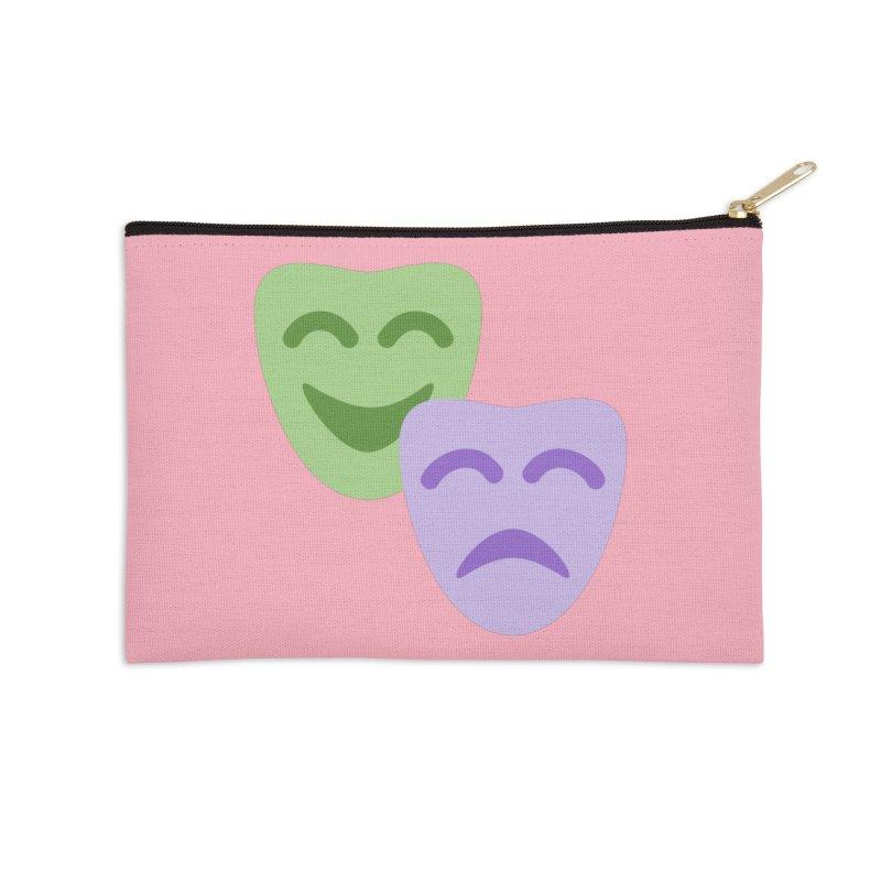 Drama Emoji Accessories Zip Pouch by XpressYourPower Shop