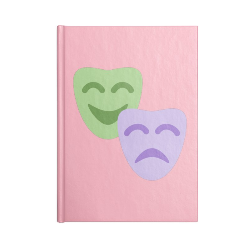 Drama Emoji Accessories Lined Journal Notebook by XpressYourPower Shop